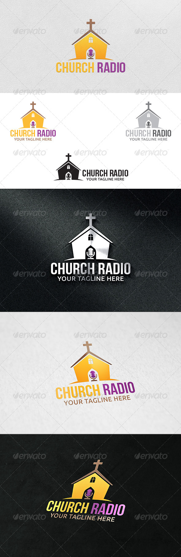Church Radio - Logo Template - Buildings Logo Templates