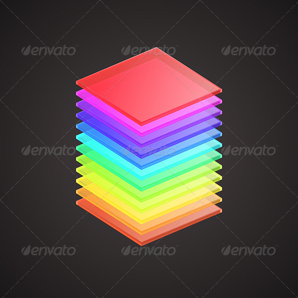 Colored Glass Plates - Objects Vectors