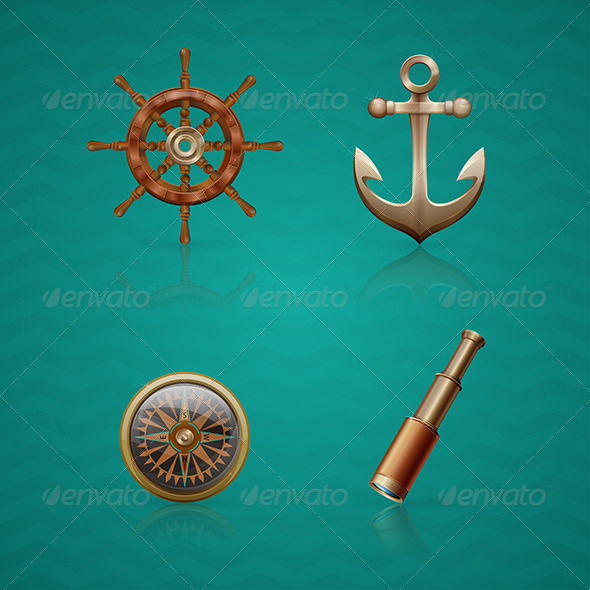 Icons Sea - Web Elements Vectors