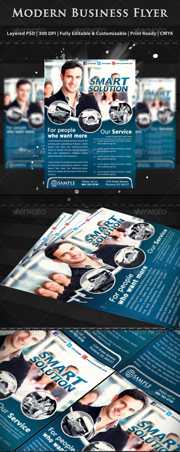 Modern Corporate Business Flyer Templates - Corporate Flyers
