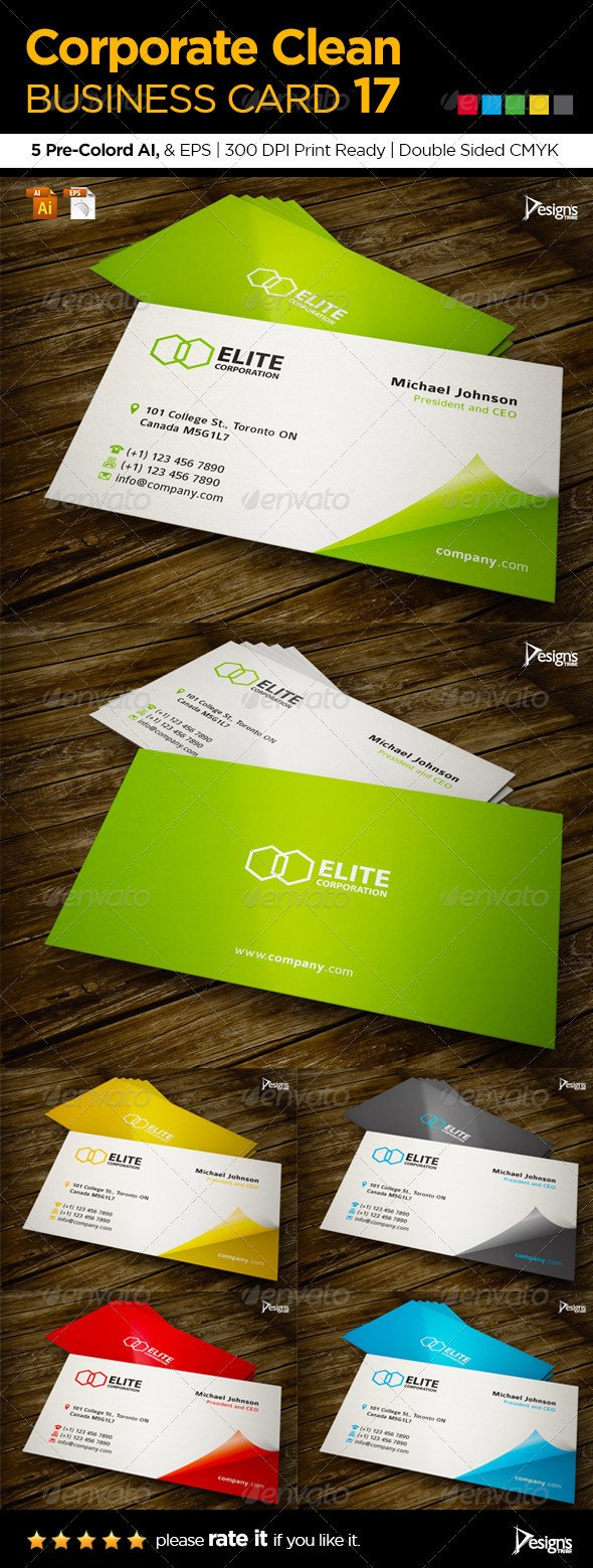 Corporate Clean Business Card 17 - Creative Business Cards