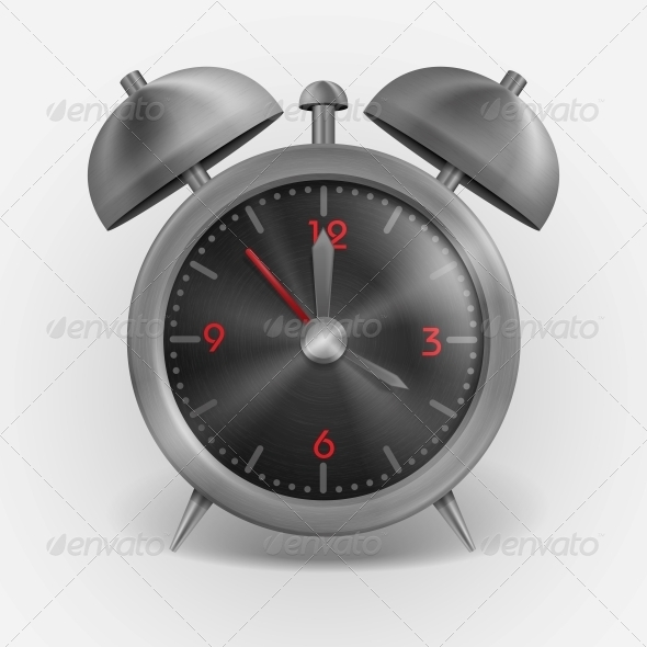 Metal Classic Style Alarm Clock. - Man-made Objects Objects