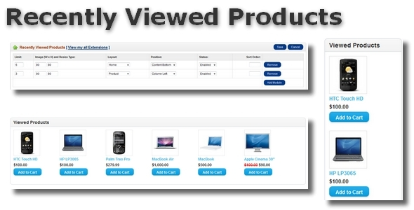 Recently Viewed Products for OpenCart - CodeCanyon Item for Sale
