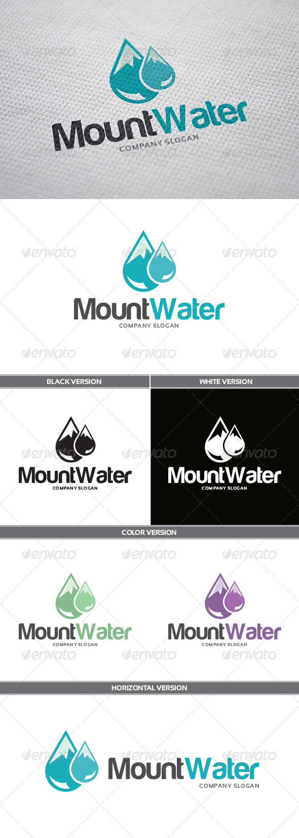 MountWater Logo - Objects Logo Templates
