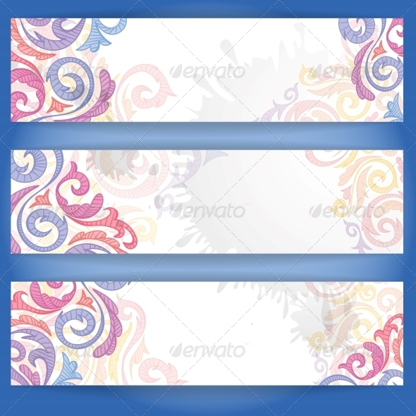 Set of Colorful Banners. - Patterns Decorative