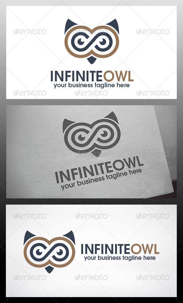 Infinite Owl Logo Template - Animals Logo Templates