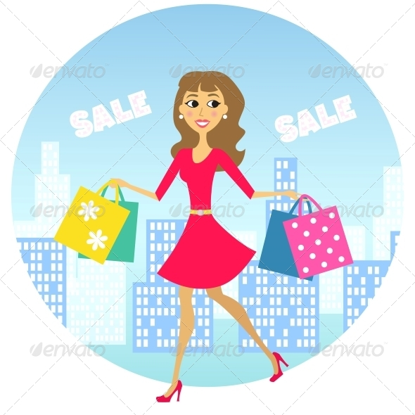 Woman with Shopping Bags - Retail Commercial / Shopping