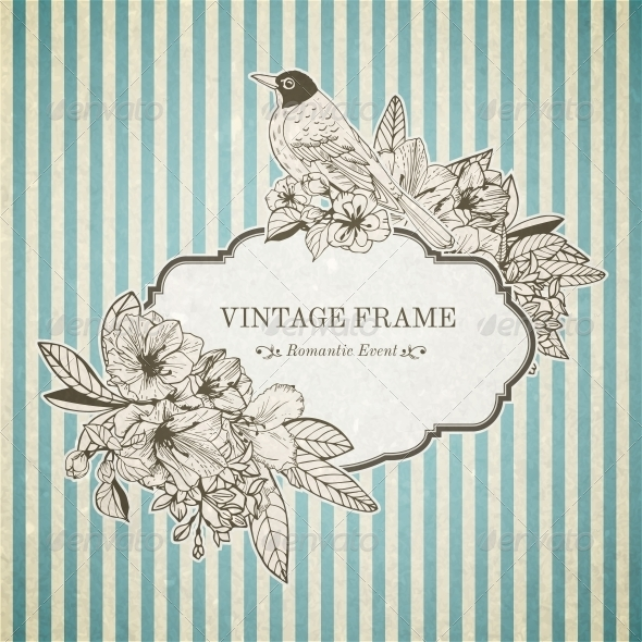Romantic Vintage Card - Borders Decorative