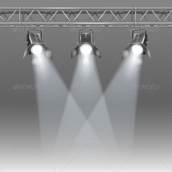 Stage with Projectors - Media Technology