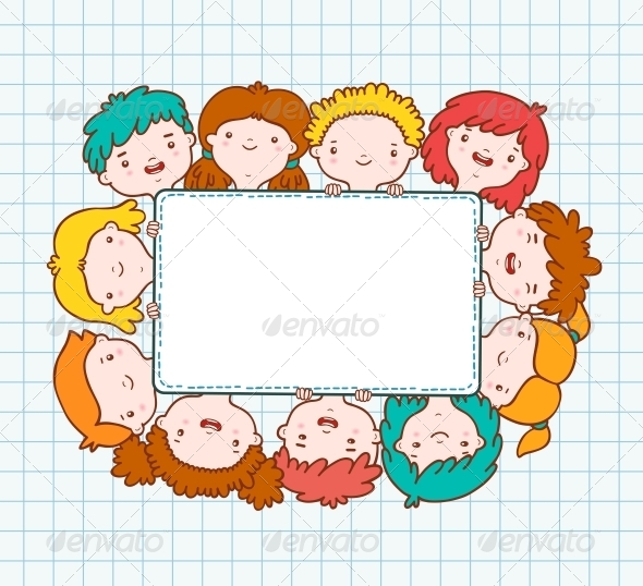 Doodle Kids Blank Frame - Borders Decorative