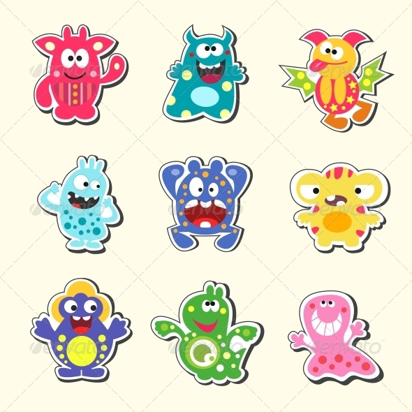 Cartoon Monsters Set - Monsters Characters