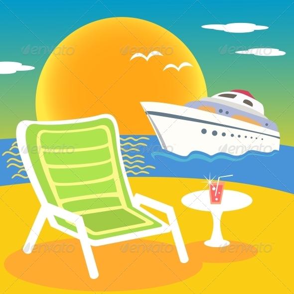 Sea, Beach and Yacht - Travel Conceptual
