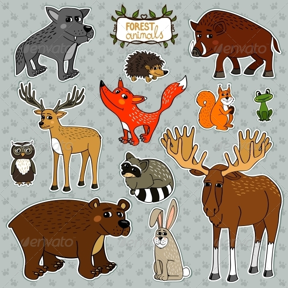 Vector Animals Owl Deer Fox - Animals Characters