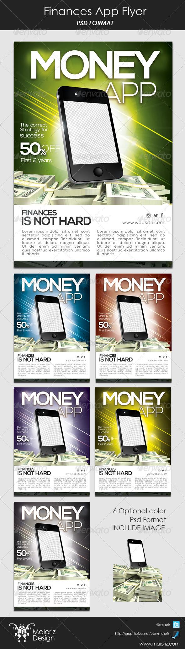 Finances App Flyer - Commerce Flyers