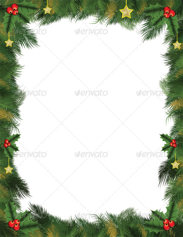 Green Christmas Card Background For Letters And Flyers By