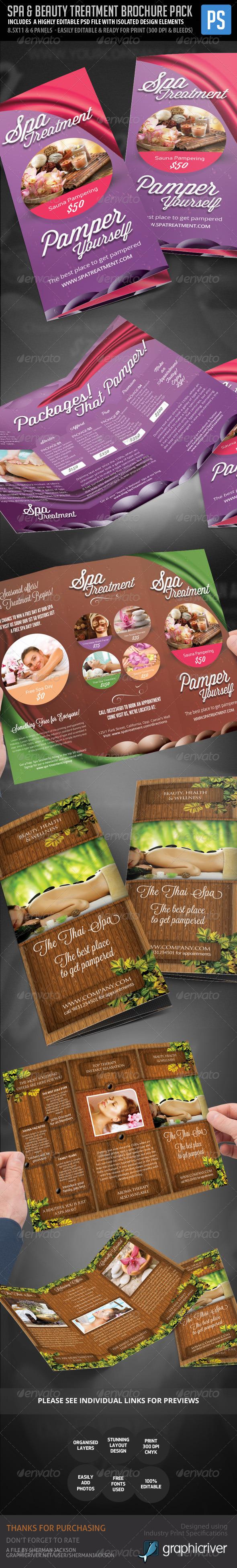 Spa Centre, Beauty & Wellness Brochure Pack - Corporate Brochures