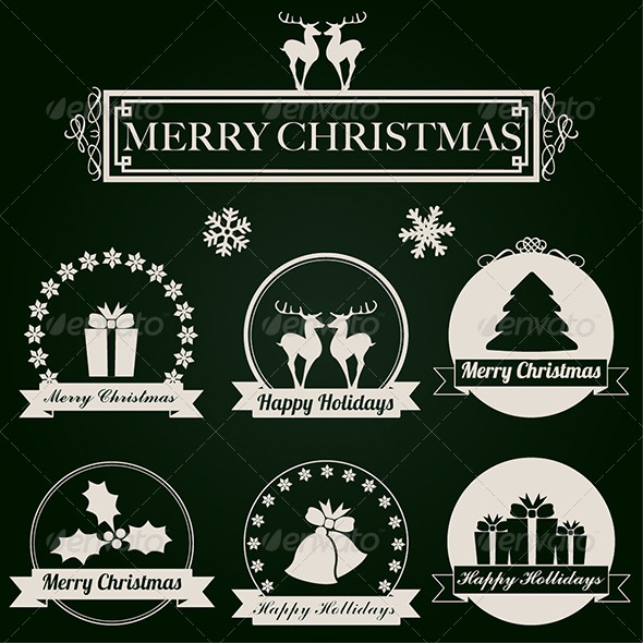 Christmas Labels - Vector Set - Christmas Seasons/Holidays