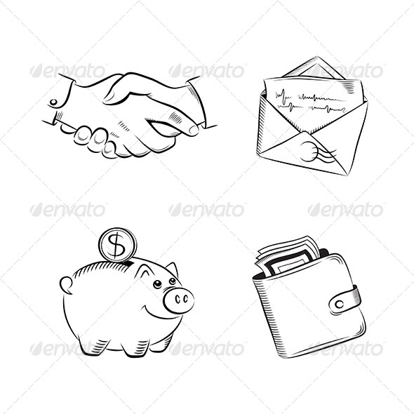 Business and Finance Vector Set - Business Conceptual