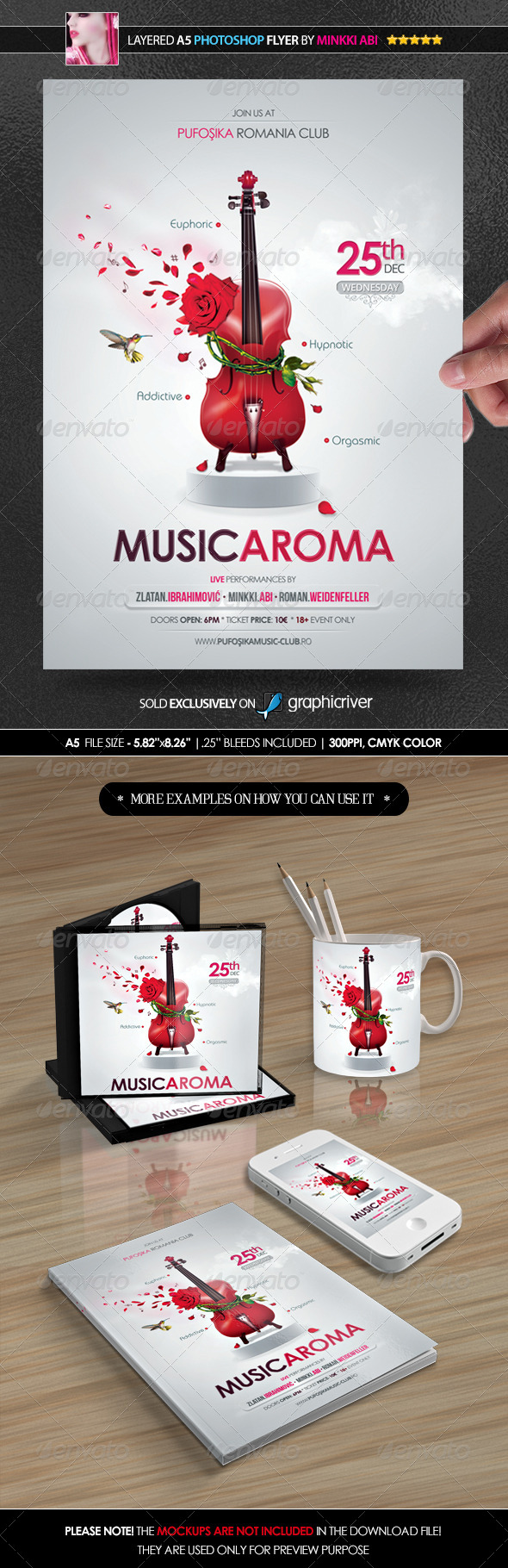 Music Aroma Poster/Flyer - Flyers Print Templates