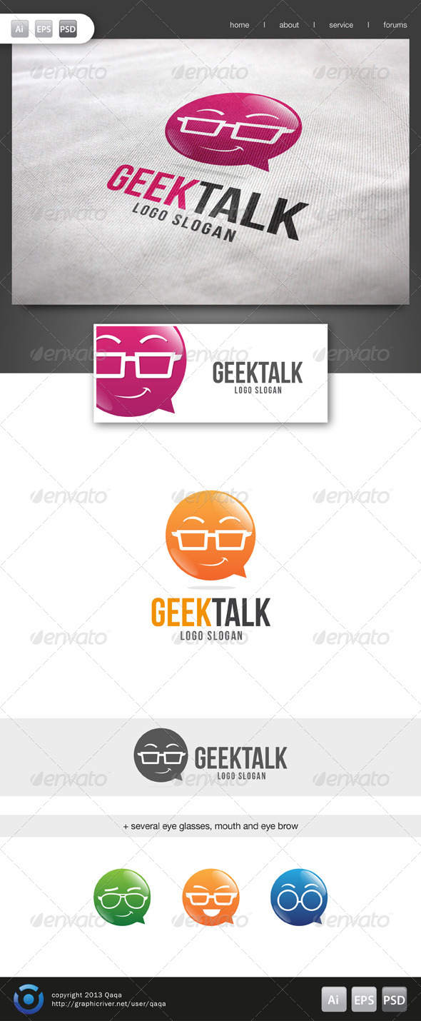 Geek Talk Logo - 02 - Logo Templates