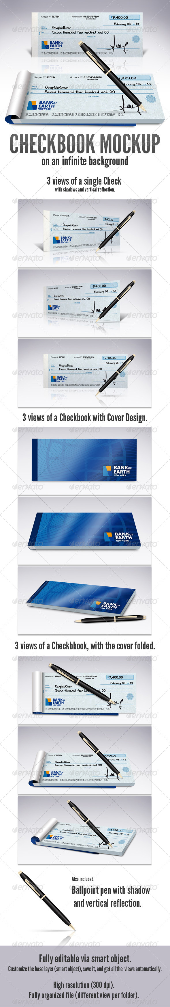 Check Book Mock-Up - Miscellaneous Print
