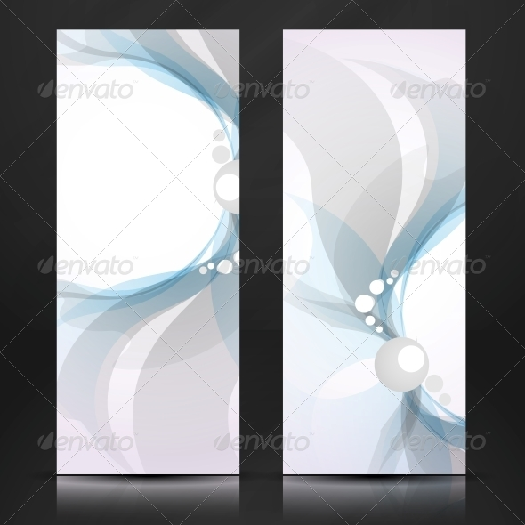 Abstract Blue and Gray Banner - Backgrounds Decorative