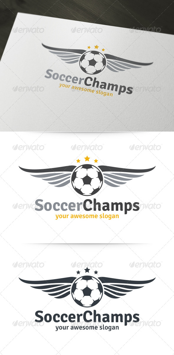 Soccer Champs Logo - Objects Logo Templates