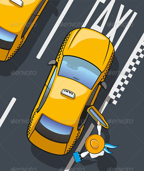 Taxi Yellow Cab - Services Commercial / Shopping