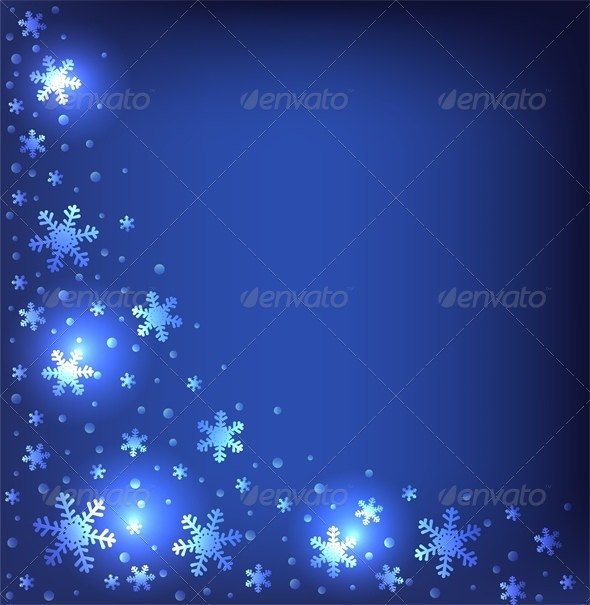 Christmas Dark Blue Background - Christmas Seasons/Holidays