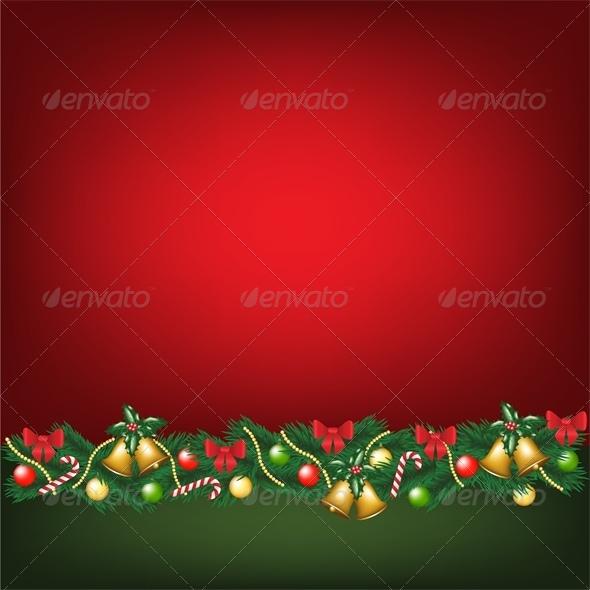 Christmas Card with Decorations - Christmas Seasons/Holidays
