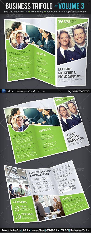 Business TriFold Brochure | Volume 3 - Corporate Brochures