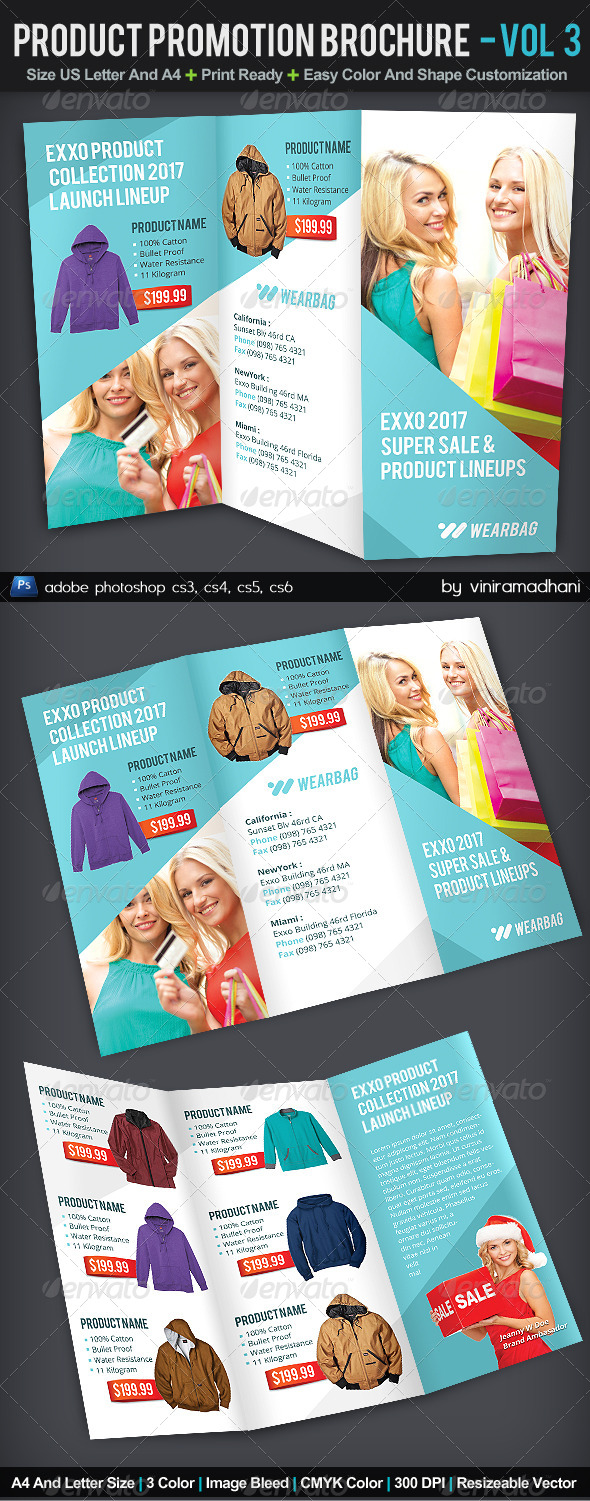 Product Promotion TriFold Brochure | Volume 3 - Catalogs Brochures