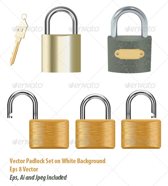 Padlock Set - Objects Vectors