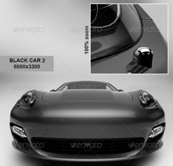 Black Car 3 - 3D Renders Graphics