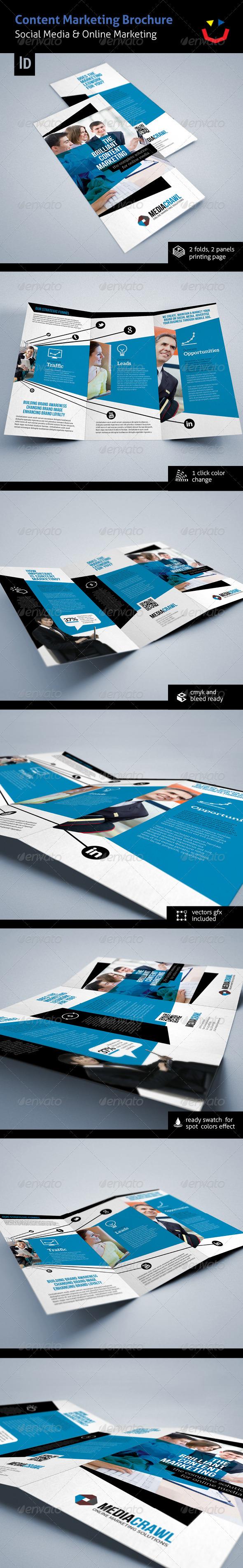 Online/Content Marketing Brochure - Brochures Print Templates