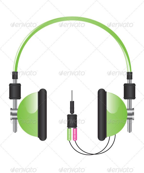 Headphones Illustration - Technology Conceptual