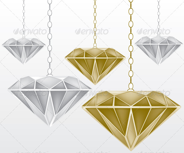 Diamonds Illustration - Decorative Vectors