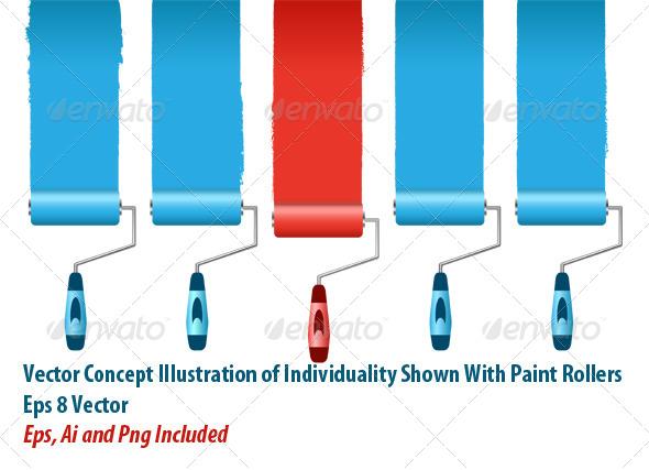 Paint Rollers - Conceptual Vectors