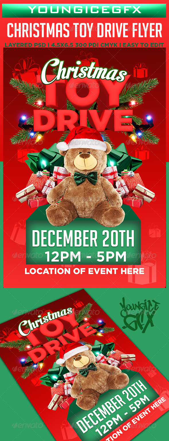 christmas toy drive flyer template koni polycode co