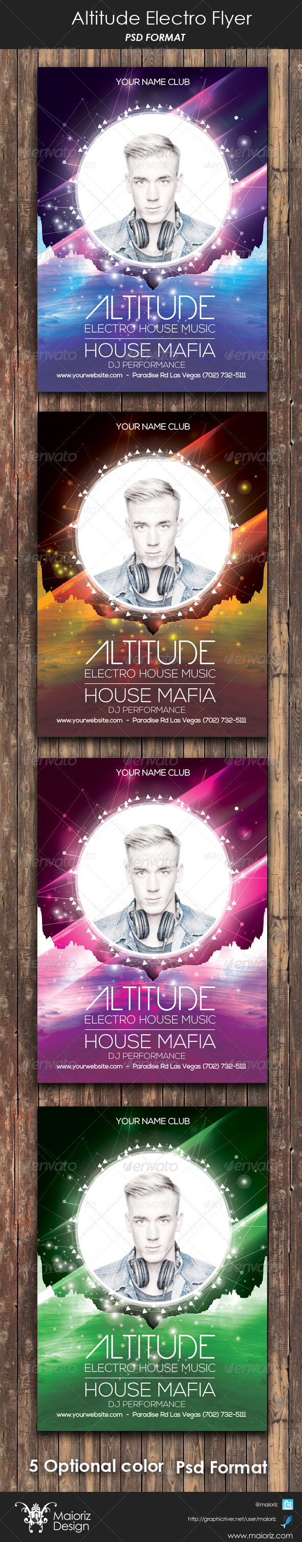 Altitude Electro Flyer - Clubs & Parties Events