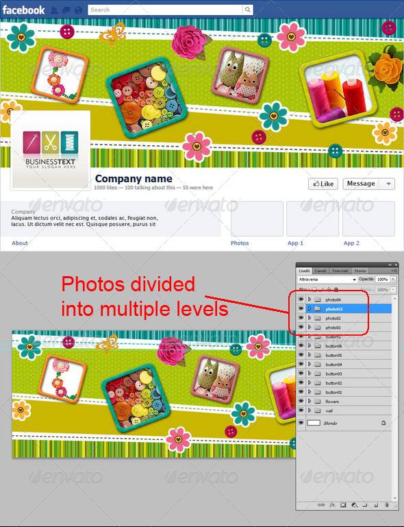 Needlework or Patchwork Facebook Timeline - Facebook Timeline Covers Social Media