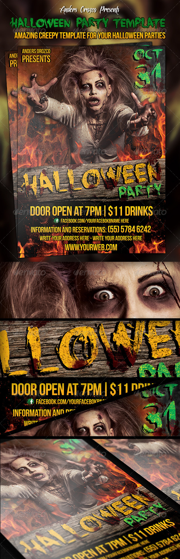 Halloween Party Poster - Clubs & Parties Events
