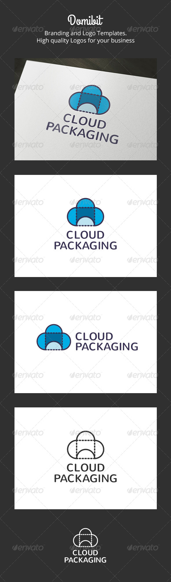 Cloud Packaging Logo - Nature Logo Templates