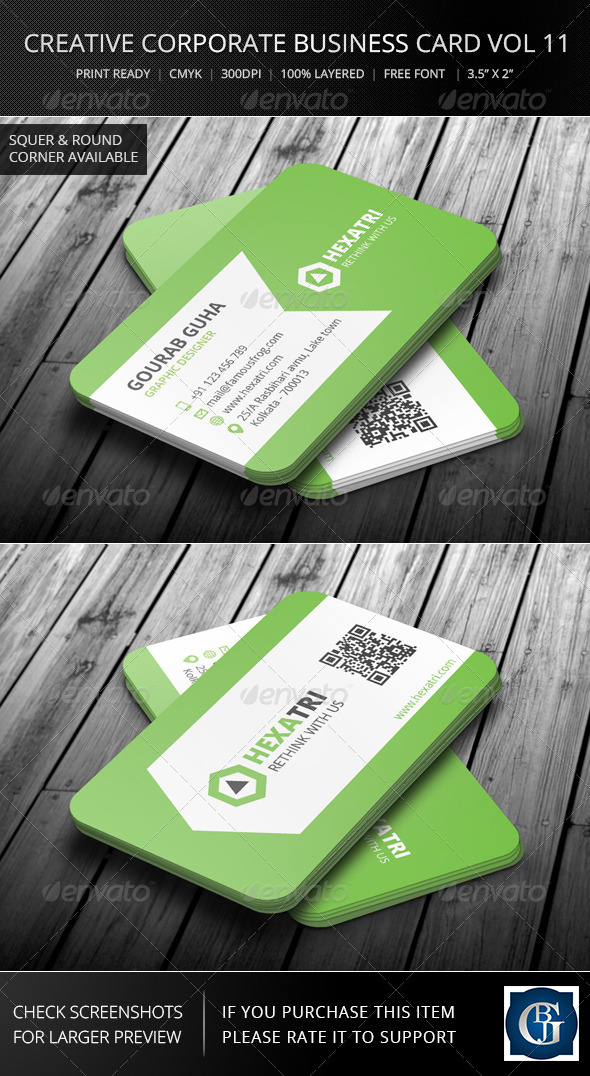 Creative Corporate Business Card Vol 11 - Corporate Business Cards