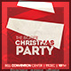 Minimalistic Christmas Party + Facebook Cover - GraphicRiver Item for Sale