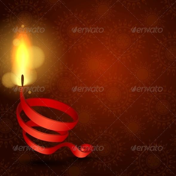 Happy Diwali Background. - Religion Conceptual