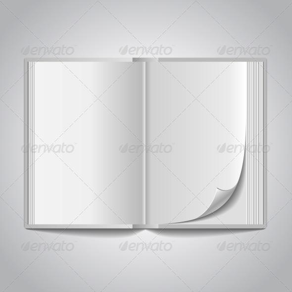 Vector Open Blank Book  - Miscellaneous Vectors