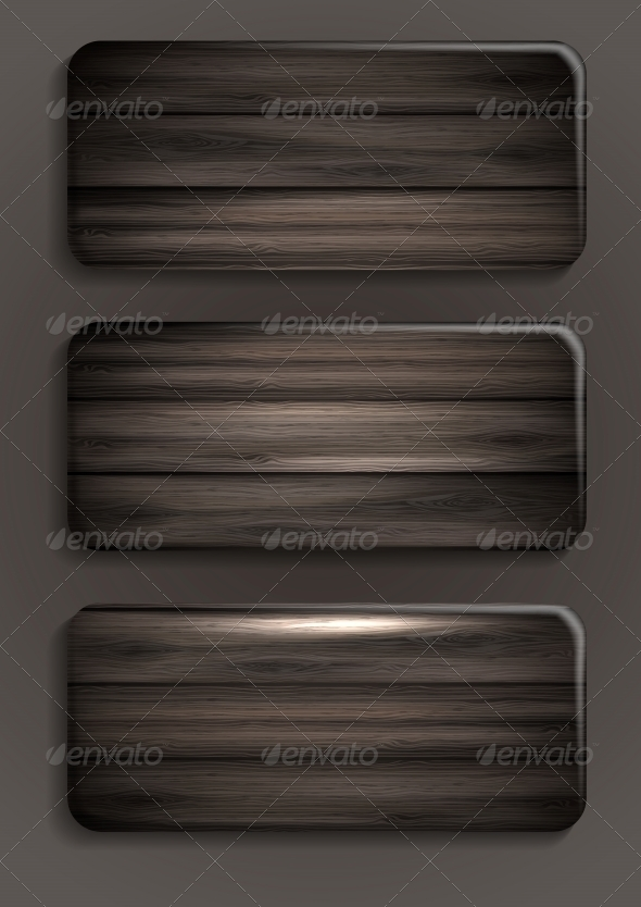 Wooden Texture Banners - Backgrounds Decorative