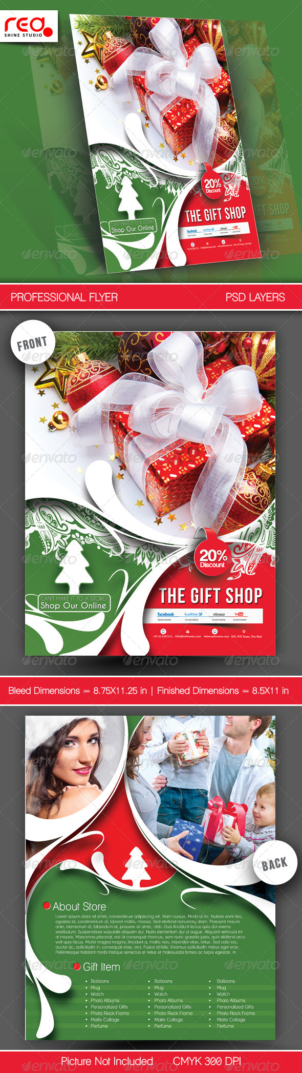 Gift Shop Flyer Poster Template - 2 - Commerce Flyers