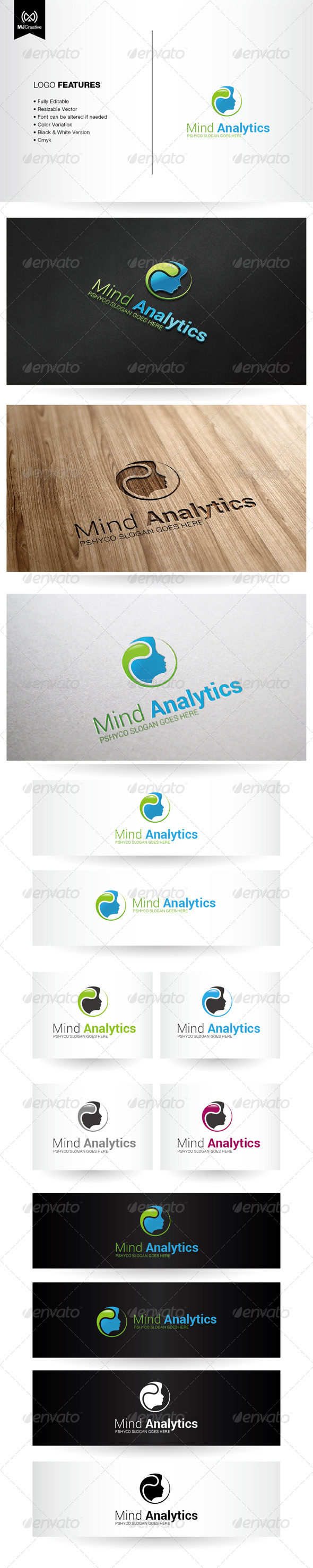 Mind and Psychology Logo - Vector Abstract
